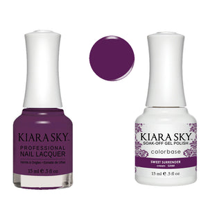 Kiara Sky Gel Polish + Matching Nail Lacquer - #544 SWEET SURRENDER
