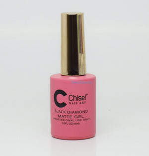 Chisel Nail Art - BLACK DIAMOND MATTE GEL 0.5 oz