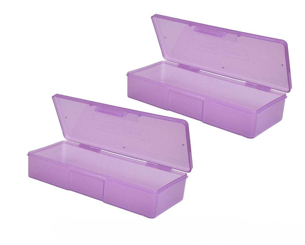 Professional Manicure/Pedicure Storage Case Large, Personal purple case box (pack of 2)