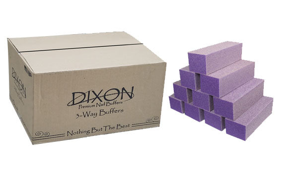 Dixon Buffer Block Purple White Grit 3 Way 60/100 (500 pcs/Case)
