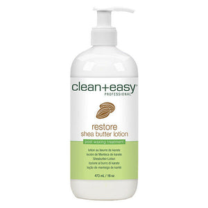 Clean and Easy Restore Shea Butter Lotion post waxing treatments 16 oz