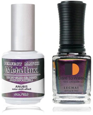 LeChat Perfect Match Metallux Soak off Gel Polish +Nail Lacquer #MLMS09 ANUBIS