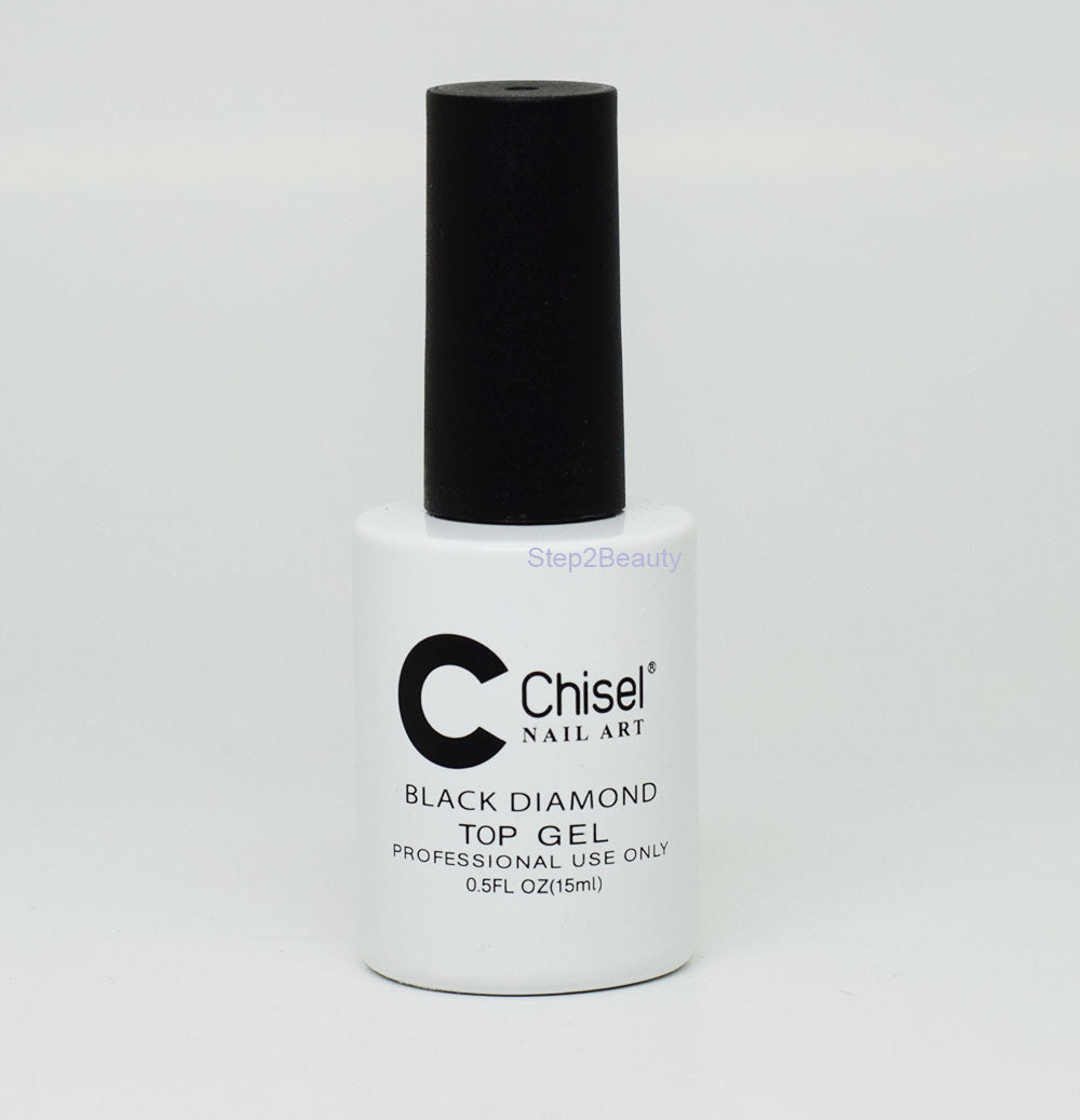 Chisel Nail Art - BLACK DIAMOND - TOP GEL 0.5 oz