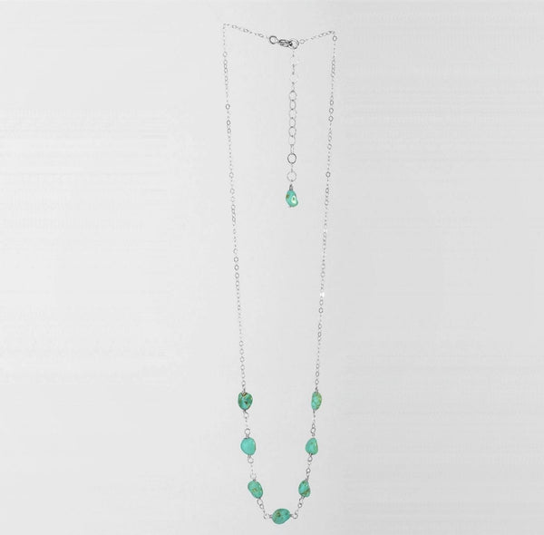 J Mills Lucky Seven Turquoise Necklace - Silver