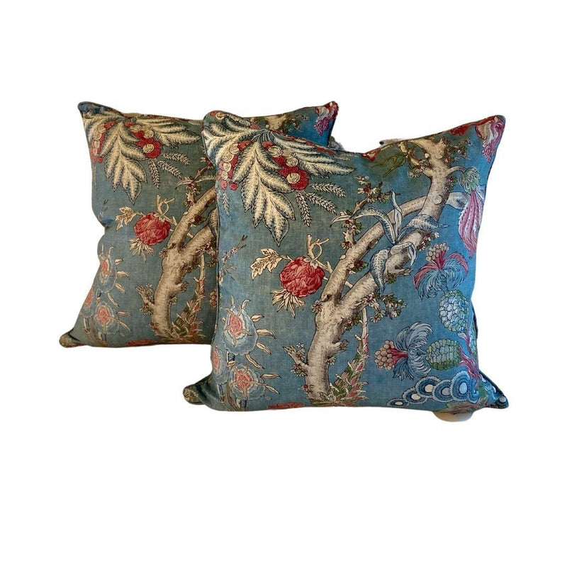Thibaut Custom Pillow Chatelain- Robins Egg Blue