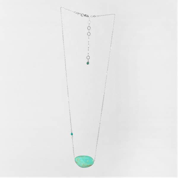 J Mills Solo Kingman Silver Turquoise Necklace