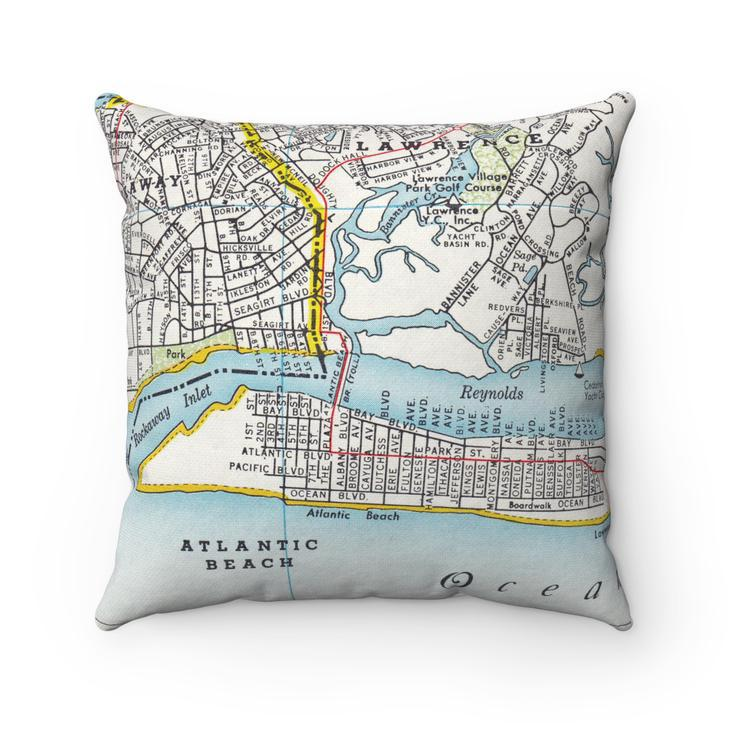 Vintage Map Pillows by Daisy Mae Designs