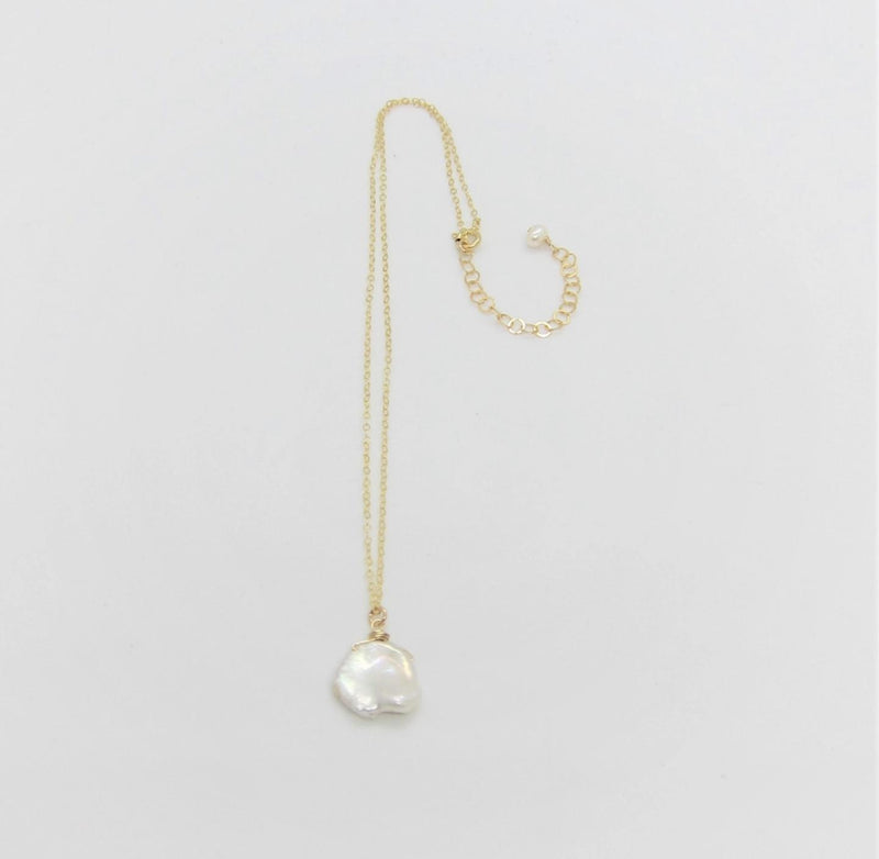 J Mills's Keishi Pearl Drop Necklace