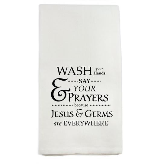 French Graffiti Wash Your Hands Towel