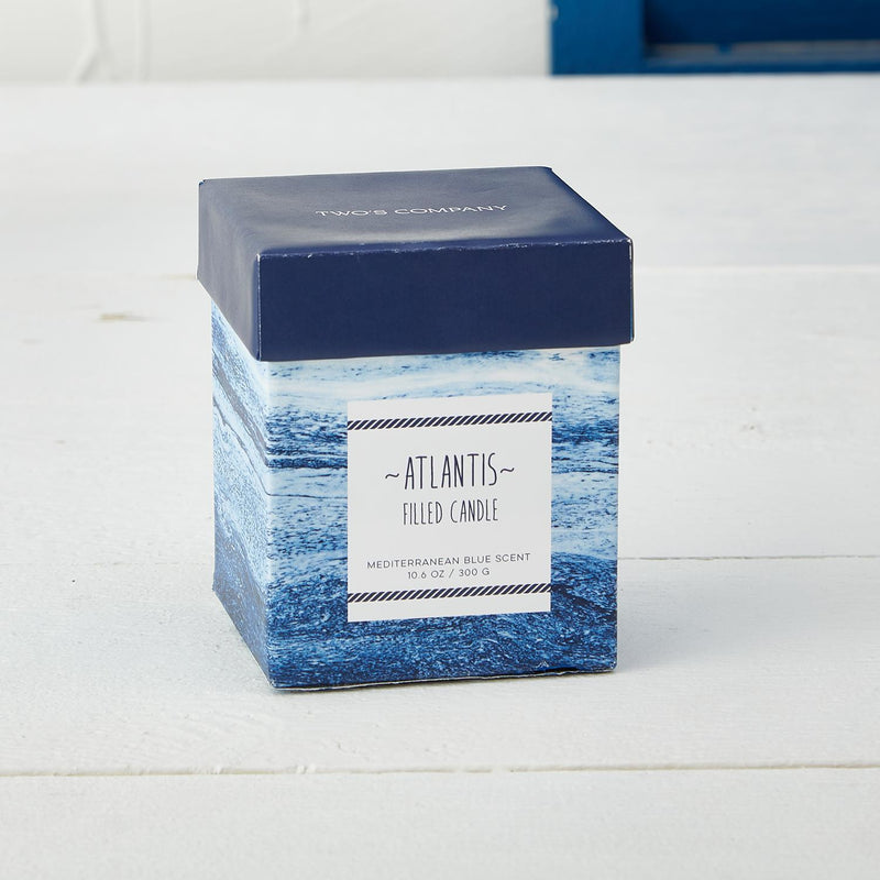 Atlantis Mediterranean Blue Ocean Scented Candle in Gift Box