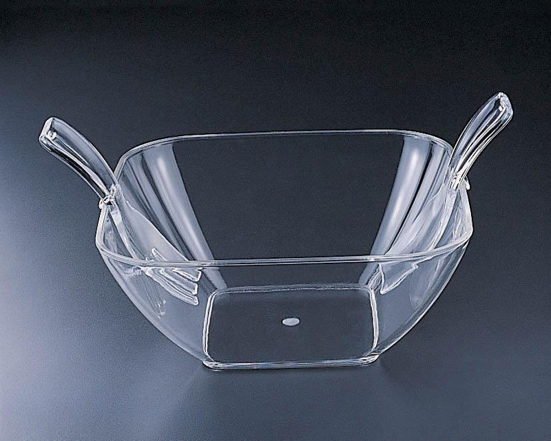 Large Acrylic Square Salad Bowl with Tongs