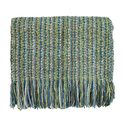 Bedford Cottage Stria Throw Seaglass