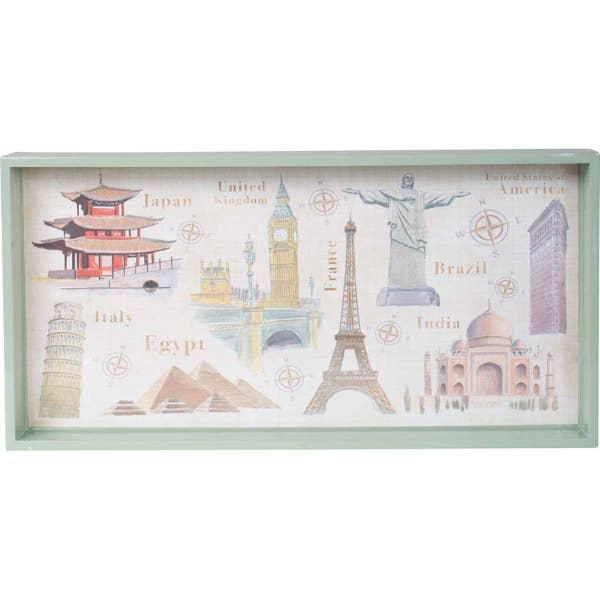 Around the World Art Tray
