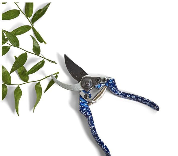 Blue and White Floral Pattern Secateurs