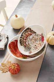 Mango Wood Enamel Turkey Bowl