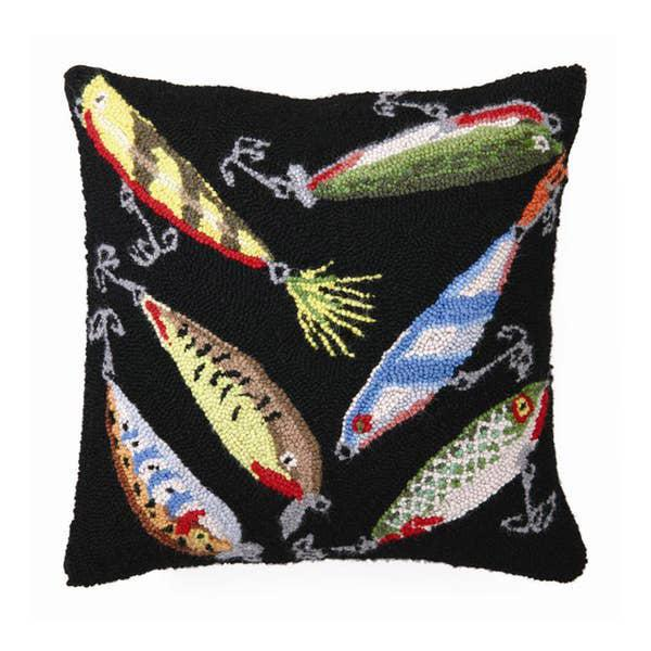 Fishing Lures Hooked Pillow