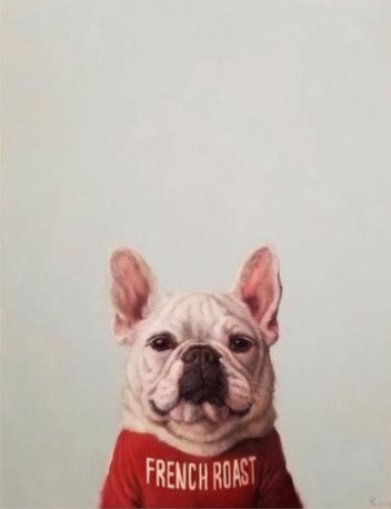 French Bulldog and Coffee Art