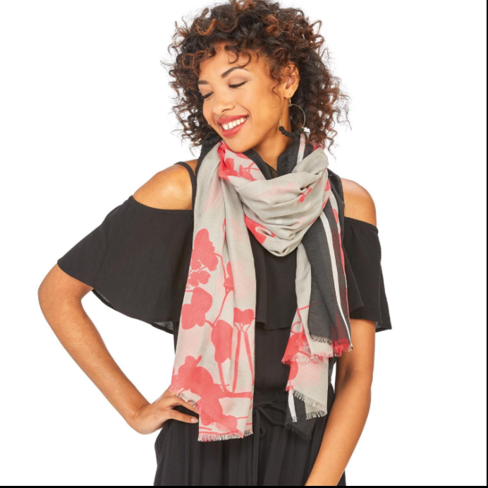 Floral Scarf in 3 Assorted Colors