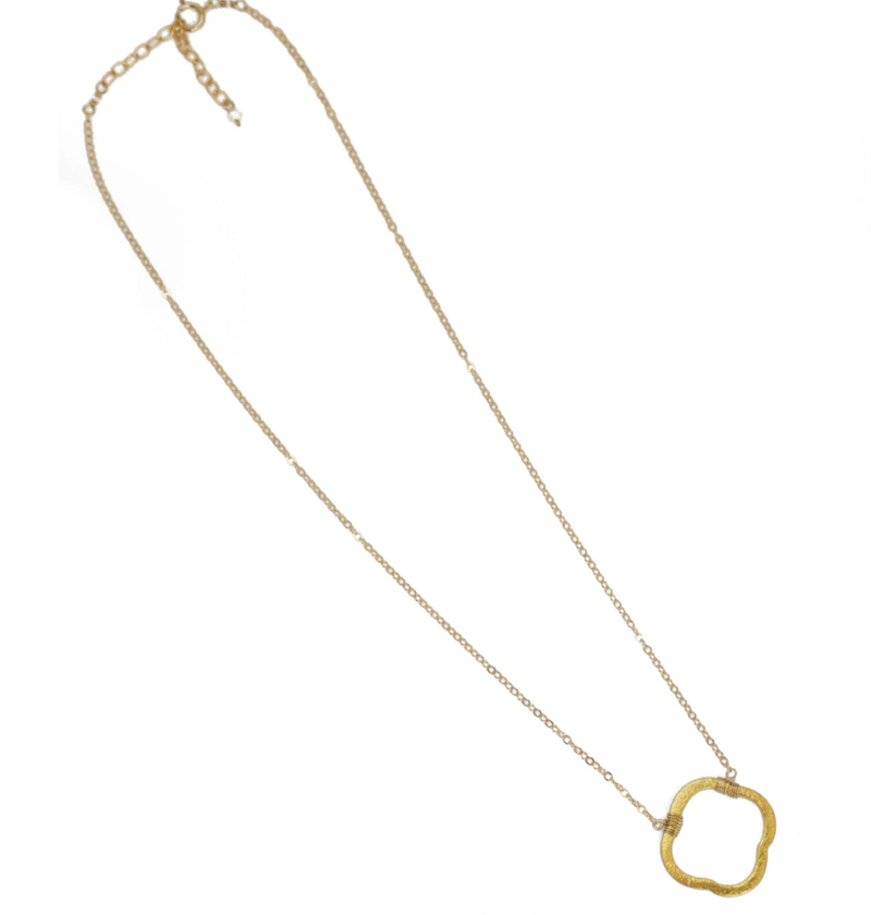 Hazen Clover Necklace Gold