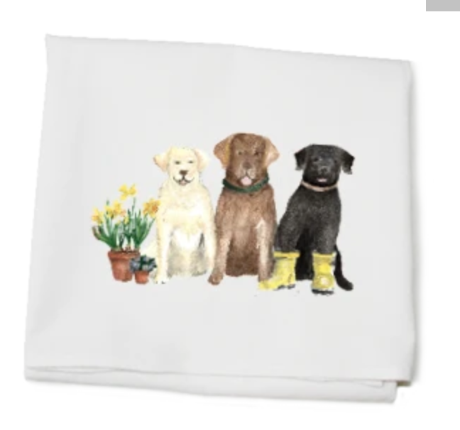 Three Labs Towel