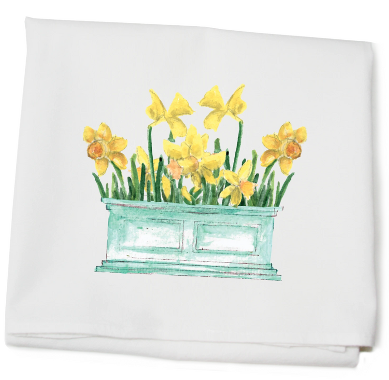 Daffodils in Flower Box Towel