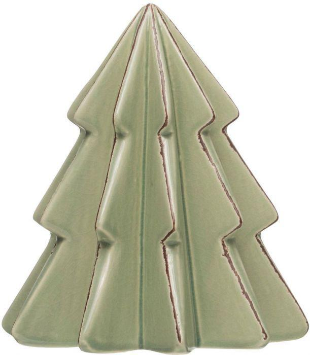 Mint Green Stoneware Christmas Trees