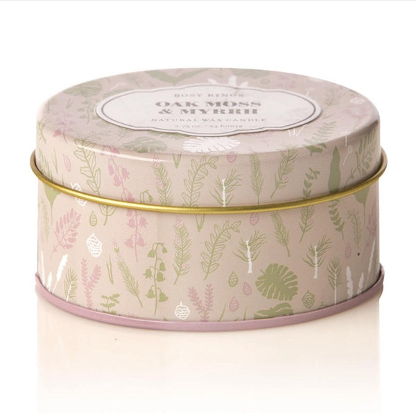 Oak Moss & Myrth Travel Tin Candle