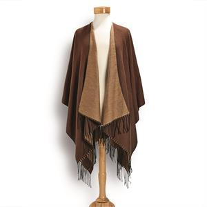 Reversible Shawl with Fringe - 3 colors
