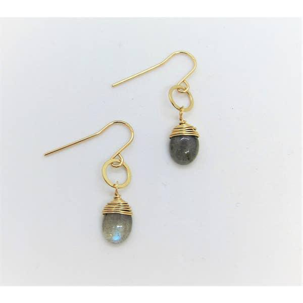 J Mills Labradorite Drop Earrings