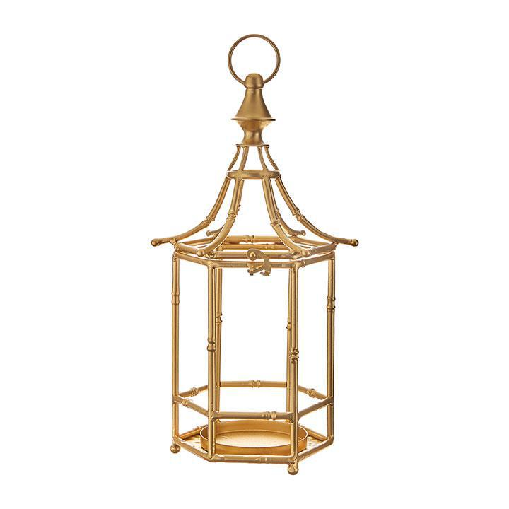 Gold Metal Bamboo Lanterns