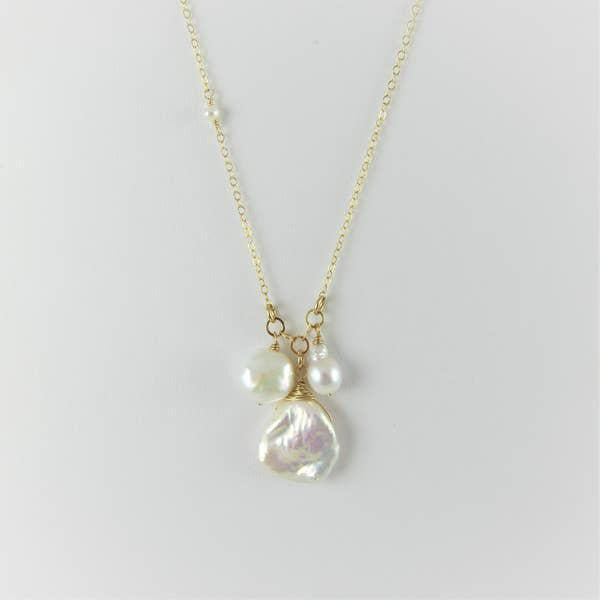 J Mills 3 Pearl Necklace