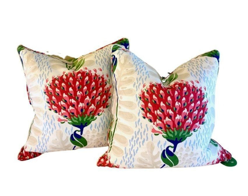 Thibaut Custom Pillow Tiverton in Red