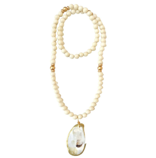Oyster Shell Necklace - Ivory
