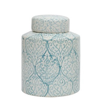 Ceramic Blue & White Ginger Jar