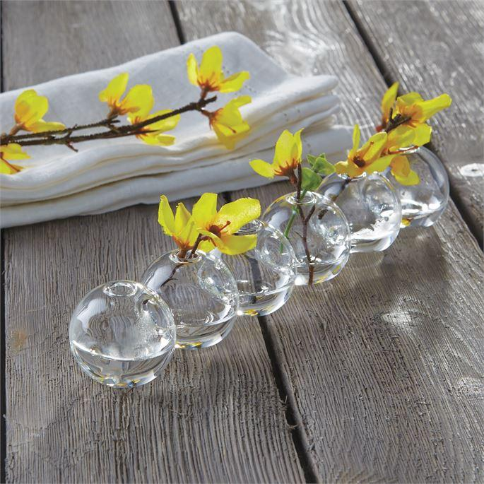 Caterpillar Glass Bud Vase