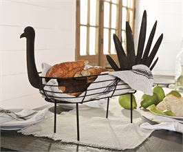 Tin Turkey Bread Basket