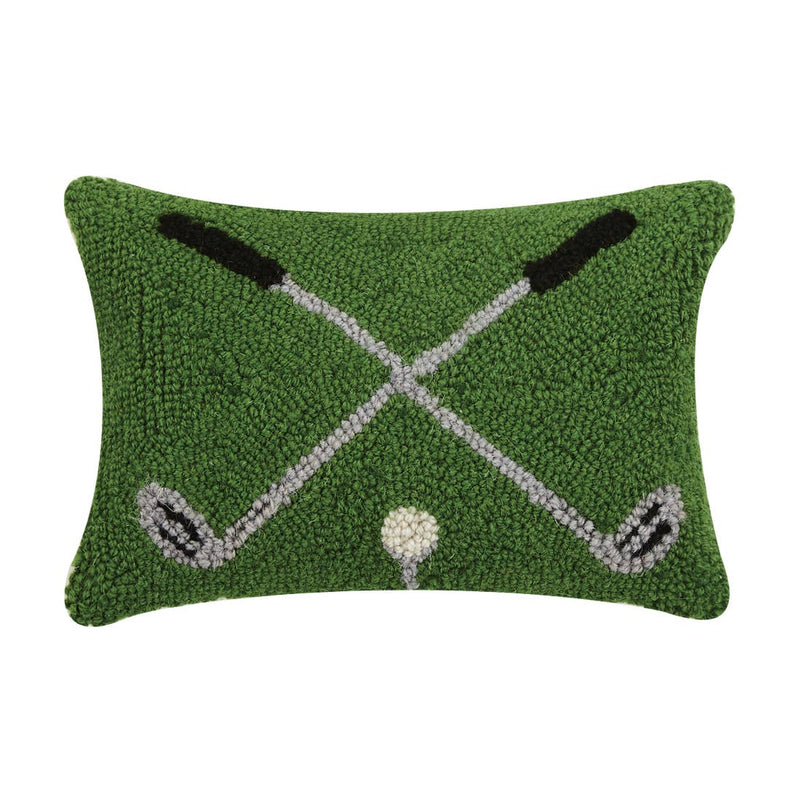 Crossed Golf Clubs Pillow