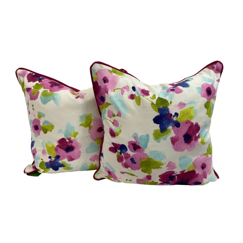"Pink Floral 20"" x 20"" Pillows"