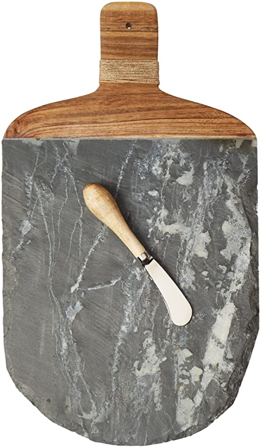 Slate & Wood Board with Spreader