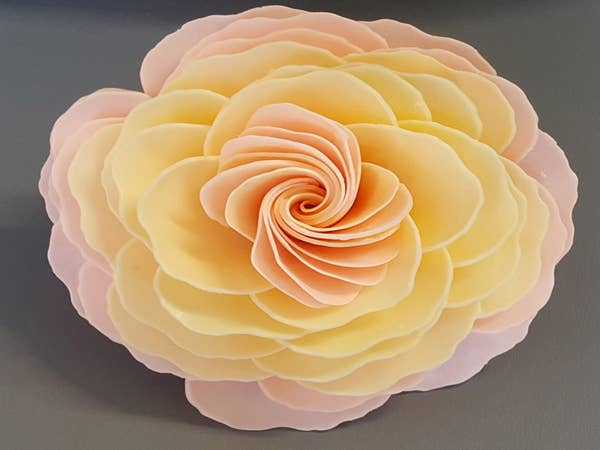 Juliet's Dream Garden Rose Sunset Petal Soap Flower