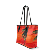 Load image into Gallery viewer, Palm Tree Orange Leather Tote Bag | JSFA