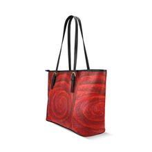 Load image into Gallery viewer, Red Rose Leather Tote Bag Black Trim | JSFA