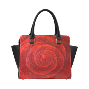 Red Rose Classic Handbag Top Handle | JSFA