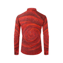 Load image into Gallery viewer, All Red Roses Long Sleeve Men's Shirt | JSFA - JSFA - Original Art On Fashion by Jenny Simon