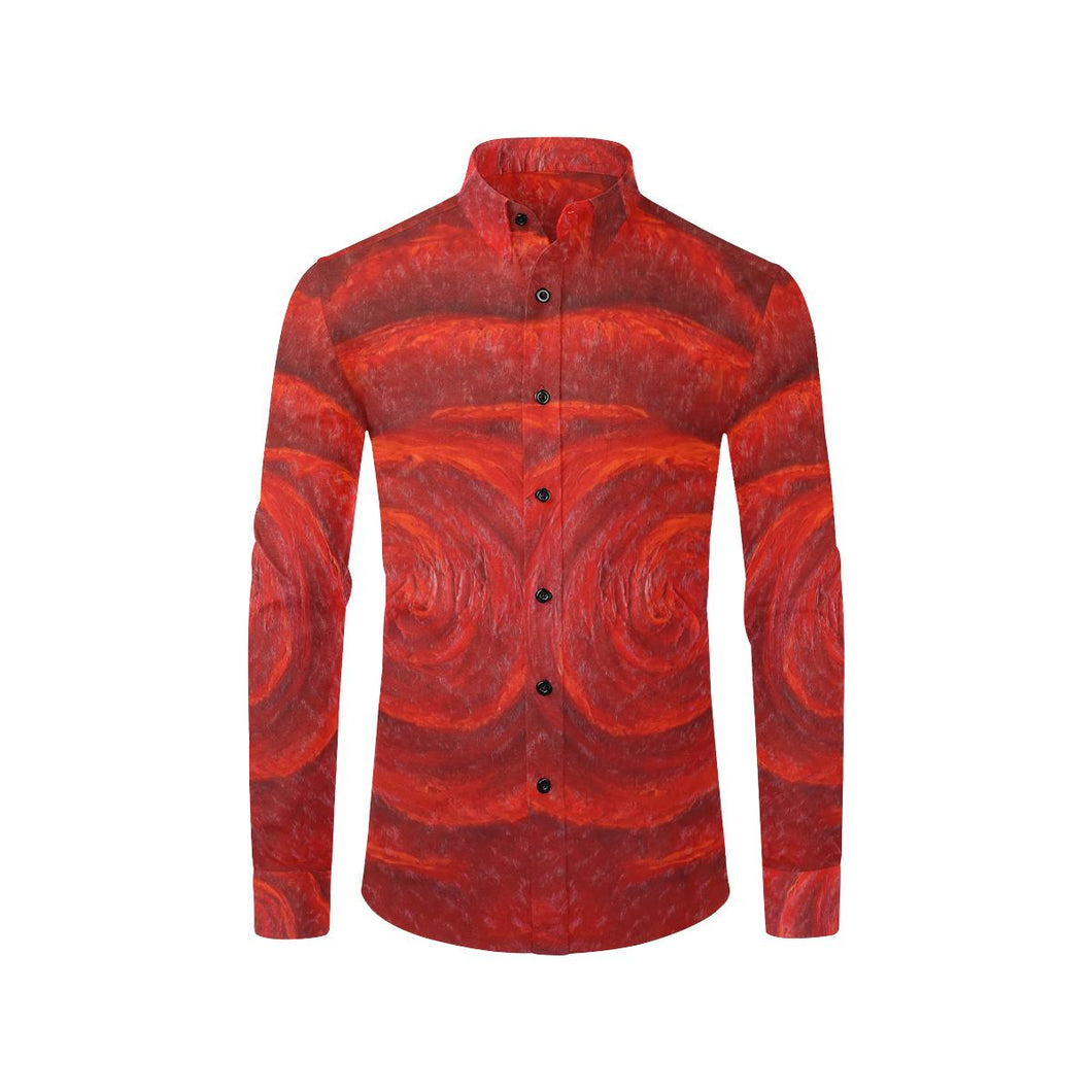 All Red Roses Long Sleeve Men's Shirt | JSFA - JSFA - Original Art On Fashion by Jenny Simon