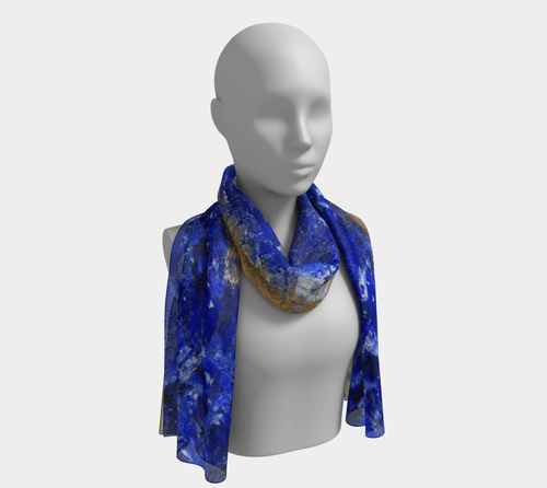 Beaches Long Scarf by JSFA - JSFA - Original Art On Fashion by Jenny Simon