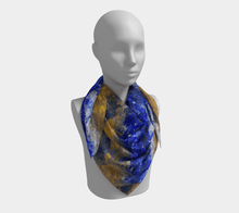 Load image into Gallery viewer, Beaches Square Scarf by JSFA - JSFA - Original Art On Fashion by Jenny Simon