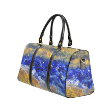 Load image into Gallery viewer, Beaches Yellow Blue Travel Bag | JSFA - JSFA - Original Art On Fashion by Jenny Simon