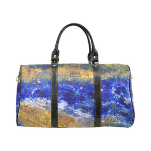 Beaches Yellow Blue Travel Bag | JSFA - JSFA - Original Art On Fashion by Jenny Simon