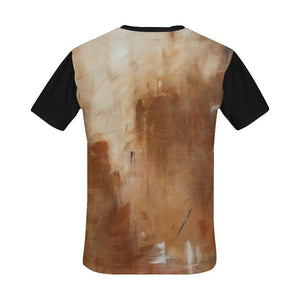 Beige Golden Path Black Men's T-Shirt | JSFA - JSFA - Original Art On Fashion by Jenny Simon